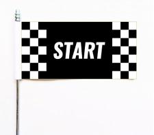 Start Race Racing Check Checkered Ultimate Table Flag