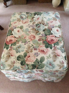 Vintage Sanderson Fabric Custom Footstool Cover (Cover Only)