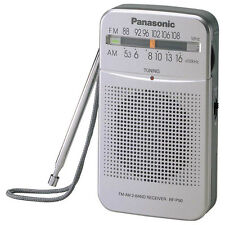 Panasonic RF-P50 Portable AM/FM 2-Band Receiver Pocket Radio w/Earphone Silver