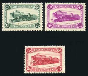 Belgium: 1934 Railway Post Locomotive Issue (Q181-Q183) Mint - CV $87.00