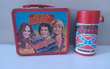 Dukes of Hazzard Vintage Metal Lunchbox 1980 w/ Thermos Aladdin
