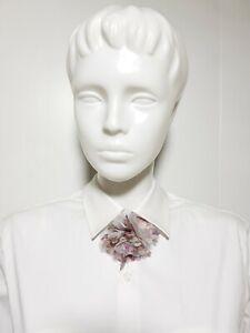 Neuf Claire's Fille Femmes Noeud Cravate Rose Blanc Lacets Fleur Papillon Floral