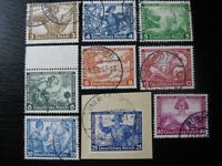 THIRD REICH Mi. #499-507 rare used Wagner stamp set! CV $455.00