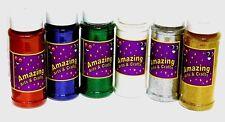 Glitter Shaker Pots Assortment 6 x 100g Gold Silver Red Iridescent Green Blue