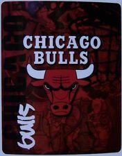 """Blanket Fleece Throw NBA Chicago Bulls NEW 50""""x60"""" with protective sleeve"""
