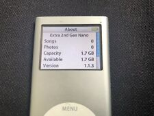 Apple iPod Nano 2nd Generation 2Gb Model A1199 Silver (Tested & Working)