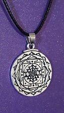 Collana SRI JANTRA MANDALA Ciondolo Tibetano Meditazione Buddista amuleto talismano