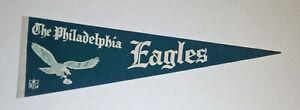 "1960's Philadelphia Eagles pennant 27"" original vintage felt Old Logo NEAR MINT"