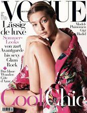 Vogue Magazine Deutsch Germany May 2016 Gigi Hadid NEW