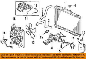Acura HONDA OEM 07-09 MDX Radiator Coolant-Lower Hose 19502RYEA00