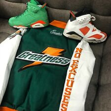 Varsity Jacket Match Jordan 6 Gatorade Like Mike - Greatness Leather Jacket