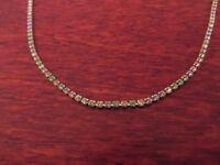 Schönes 925 Silber Collier Kette Grüne Rosa Blau Gelb Steine Tutti Frutti Kinder