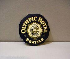 Vtg Souvenir Decal Sticker Olympic Hotel Seattle Washington Car Luggage Suitcase