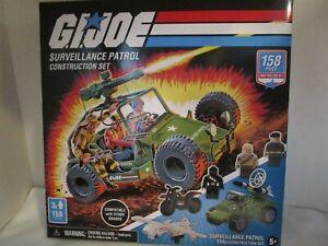 GI Joe Construction Set Surveillance Patrol w/ 3 Mini Figs & 158 Pieces NEW