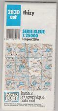 Carte Série Bleue IGN Thizy 2830 Est