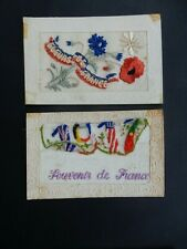 More details for ww1  embroidered postcards pair   damaged to restore  ideal school history etc