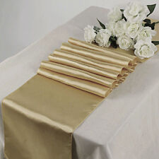 "Satin Table Runner 20 pcs 12""X108"" Wedding venue party decoration-Champagne Gold"