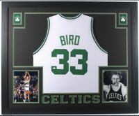 LARRY BIRD FRAMED Autographed/Signed  Boston Celtics Jersey with Beckett COA