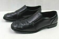 SONOMA BOYS YOUTH DRESS SLIP-ON SHOES SIZE 5 MEDIUM BLACK FAUX LEATHER UPPER