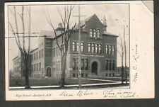 1906 post card High School Lockport NY to Ulise Moorman Williamson NY