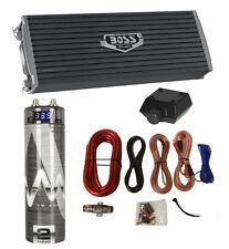NEW Boss AR3000.2 3000 Watt 2-Channel Car Audio Amplifier + Capacitor + Amp Kit