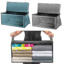 Quilt Stackable Bins Foldable Clothes Storage Organizer Box Portable Closet bags