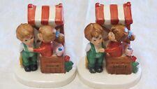 Vintage Lefton 07821 Hand Painted Porcelain Figurine Kissing Booth Boy Girl