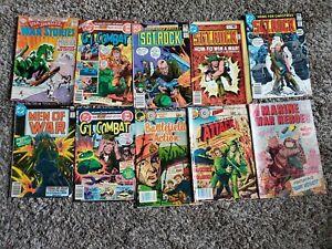 War Comic Lot Of 10 lower grade. Sgt. Rock, G.I. Combat