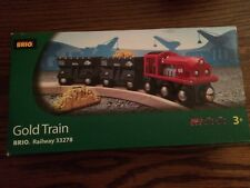 BRIO Gold Train for the Wooden Railway System New in Pkg.