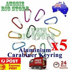 5x Carabiner Clip Key Ring Holder Chain Cable Hiking Hook Lock Camping D Shape N