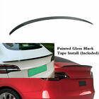 Rear Trunk Painted Gloss Black Spoiler Wing Lip Fit For TESLA Model 3 2017-2022