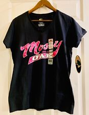 Mossy Oak NWT Women's T Shirt L Black Pink Camouflage Top Large. A3