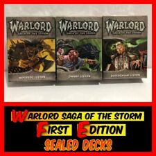 3 Sealed Decks of WARLORD Saga of the Storm CCG 1st FIRST EDITION NEW!