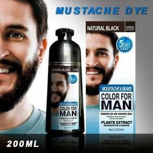 Hair Dye Colour Beard Permanent Shampoo Wash Natural Black Men Dying 200ML