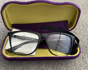 Genuine Gucci Glasses Black Frames - Clear Lenses - BNIB