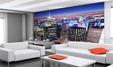 NEW YORK CITY MANHATTAN PANORAMA PHOTO WALLPAPER, GIANT WALL DECOR PAPER POSTER