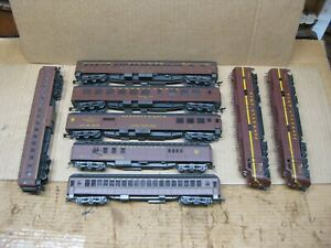 Vintage Ho Scale Rivarossi Pennsylvania Passenger Cars w/ 2 Unbranded Locomotive