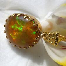 äthiopien opal cabochon anhänger, 585 gold, ca. 5,8ct. opal
