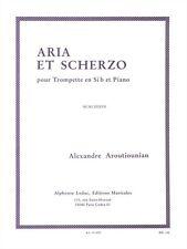 Aroutiounian Aria Et Scherzo Pour Trompette En Si Bémol Et Piano MUSIC BOOK