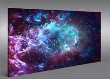 Bild auf Leinwand Sternennebel Sterne Weltall Galaxie 1K Leinwandbild Wandbild
