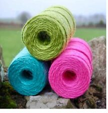 30m Coloured Twine Pack Bundle,Jute String, Baker, Card, Scrap, Job Lot, Ribbon
