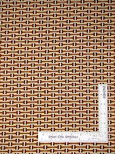Basket Weave Tan & Cream Cotton Fabric Ain't No Bull Riverwoods  - Yard