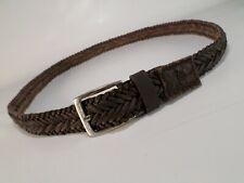 Calvin Klein Braided Leather Belt CK Distressed Brown 38 40 42