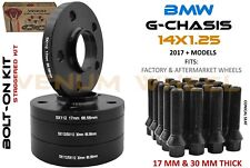 4 Pc 5x112 BMW G Chassis 17 MM + 30 MM Black Hub Centric Wheel Spacer Kit 66.56