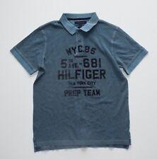 New Mens Tommy Hilfiger Vintage Wash Polo Shirt Size XL D
