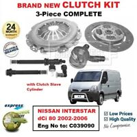 FOR NISSAN INTERSTAR dCi 80 Eng to: C039090 2002-2006 NEW 3PC CLUTCH KIT and CSC