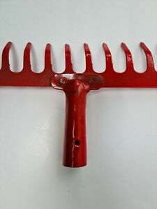 Garden Rake Head 12tooth (New, Paint has come off in areas)
