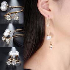 Ohrringe Shamballa Doppel Perlen Ohrhänger Sterling Silber Zirkonia Anhän Gift