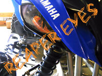 Raptor Yamaha 660 REAPER Eyes HeadLight Covers  RUKINDCOVERS