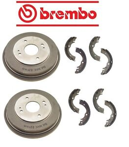 For Honda Accord 1990-2002 Rear Brake Drums 4Lugs with Shoes Set Kit Brembo